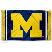 Michigan Wolverines Jersey Stripes Flag