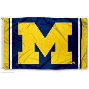 Michigan Wolverines Jersey Stripes Flag