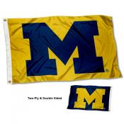 Michigan Wolverines Maize and Blue Double Sided Flag