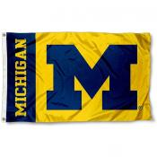 Michigan Wolverines Maize Logo Flag