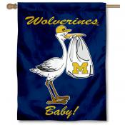 Michigan Wolverines New Baby Flag