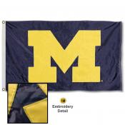Michigan Wolverines Nylon Embroidered Flag