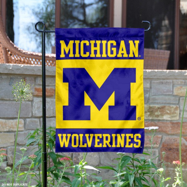 Michigan Wolverines Yard Flag is 13x18 inches in size, is made of 2-layer polyester, screen printed UM athletic logos and lettering. Available with Same Day Express Shipping, Our Michigan Wolverines Yard Flag is officially licensed and approved by UM and the NCAA.