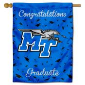 Middle Tennessee Blue Raiders Congratulations Graduate Flag