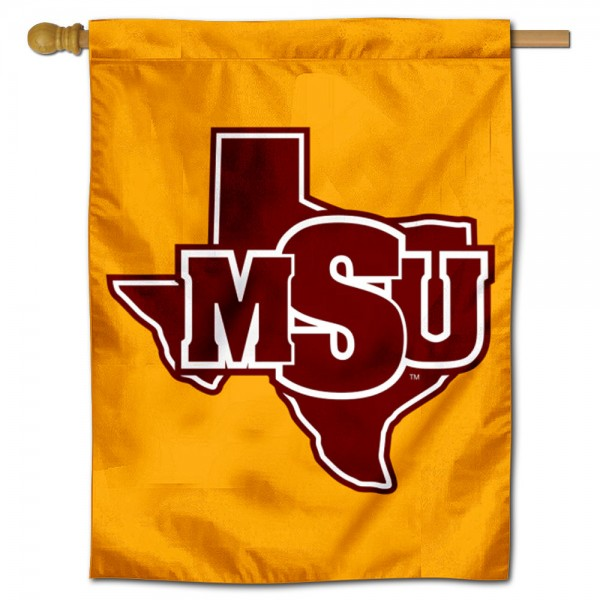 Midwestern State Mustangs Double Sided House Flag is a vertical house flag which measures 30x40 inches, is made of 2 ply 100% polyester, offers screen printed NCAA team insignias, and has a top pole sleeve to hang vertically. Our Midwestern State Mustangs Double Sided House Flag is officially licensed by the selected university and the NCAA.