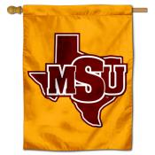 Midwestern State Mustangs Double Sided House Flag