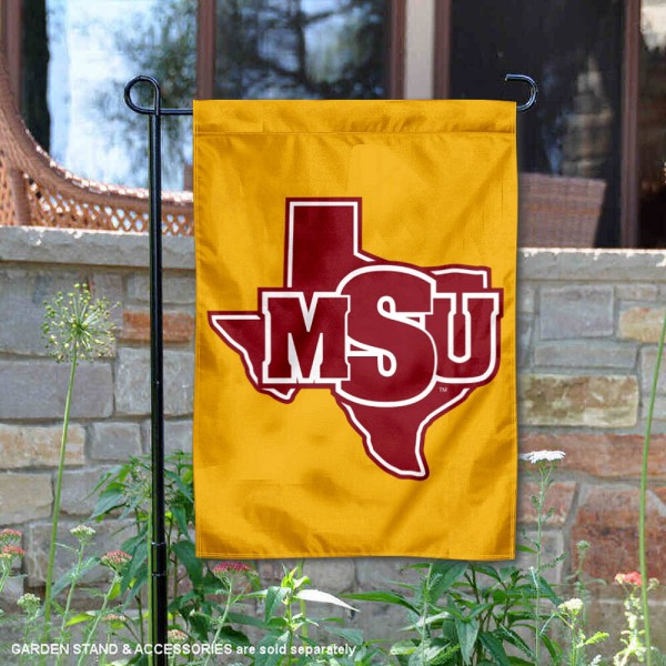 Midwestern State Mustangs Garden Flag is 13x18 inches in size, is made of 2-layer polyester, screen printed university athletic logos and lettering, and is readable and viewable correctly on both sides. Available same day shipping, our Midwestern State Mustangs Garden Flag is officially licensed and approved by the university and the NCAA.