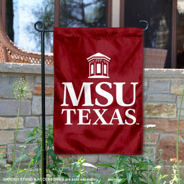 Midwestern State University Academic Logo Garden Flag is 13x18 inches in size, is made of 2-layer polyester, screen printed university athletic logos and lettering, and is readable and viewable correctly on both sides. Available same day shipping, our Midwestern State University Academic Logo Garden Flag is officially licensed and approved by the university and the NCAA.