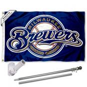 Milwaukee Brewers Flag Pole and Bracket Kit
