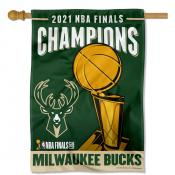 Milwaukee Bucks 2021 NBA Champions House Flag