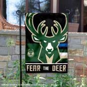 Milwaukee Bucks Fear the Deer Double Sided Garden Flag