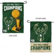 Milwaukee Bucks NBA 2021 Champions Garden and Yard Flag