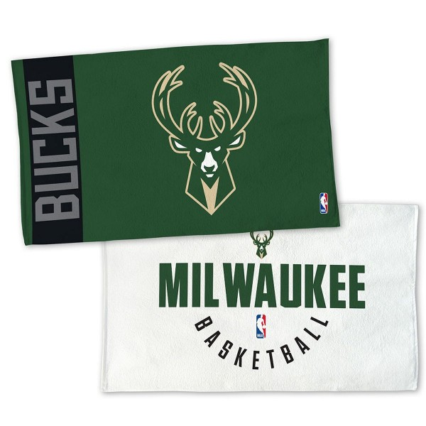 Milwaukee Bucks On Court and Locker Room Towel measures 22x42 inches, is made of 100% thick Cotton, has double stitched sewing perimeter, and Double Sided Dyed Sublimation Graphics and Logos. Our Milwaukee Bucks On Court and Locker Room Towel is officially licensed by the selected team and the NBA.