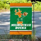 Milwaukee Bucks Retro Hardwood Classics Double Sided Garden Flag