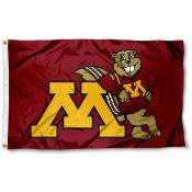 Minnesota Goldy Gopher Flag