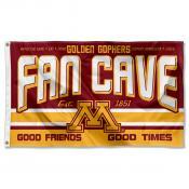 Minnesota Gophers Fan Man Cave Game Room Banner Flag
