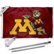 Minnesota Gophers Mascot Flag Pole and Bracket Kit
