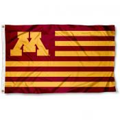 Minnesota Gophers Striped Flag
