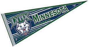 Minnesota Lynx Pennant is our WNBA team pennant which measures 12x30 inches, is made of felt, has a pennant sleeve, and is single sided screen printed. Our Minnesota Lynx Pennant is perfect for showing your WNBA team allegiance in any room of the house and is WNBA officially licensed