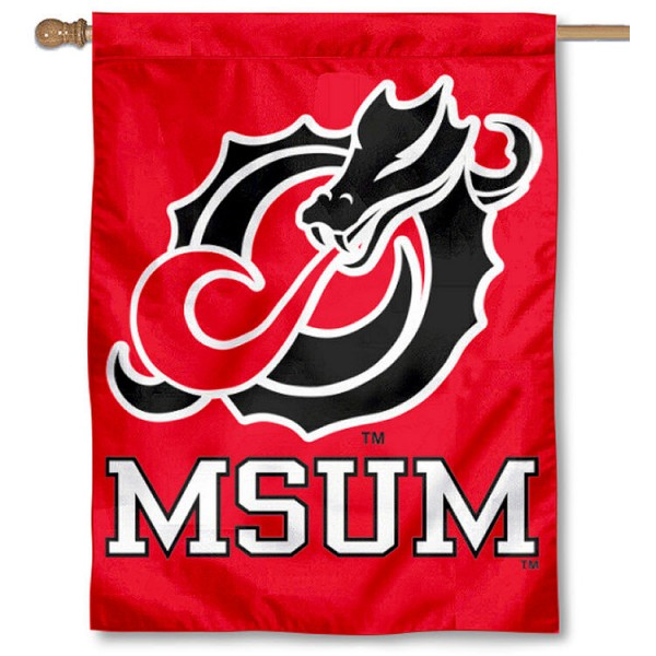 Minnesota State Moorhead House Flag is a vertical house flag which measures 30x40 inches, is made of 2 ply 100% polyester, offers dye sublimated NCAA team insignias, and has a top pole sleeve to hang vertically. Our Minnesota State Moorhead House Flag is officially licensed by the selected university and the NCAA.