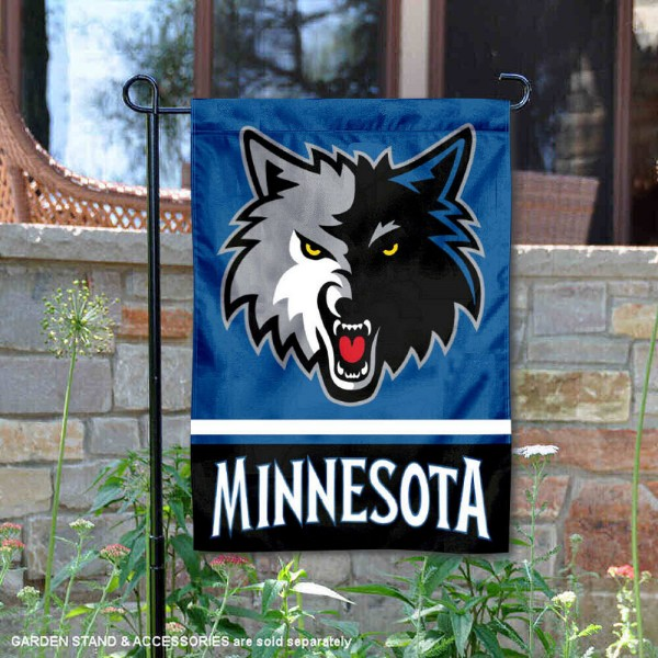Minnesota Timberwolves Garden Flag is 12.5x18 inches in size, is made of 2-ply polyester, and has two sided screen printed logos and lettering. Available with Express Next Day Shipping, our Minnesota Timberwolves Garden Flag is NBA Genuine Merchandise and is double sided.