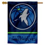Minnesota Timberwolves Logo Double Sided House Flag