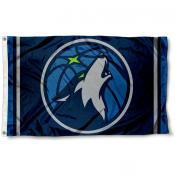 Minnesota Timberwolves New Logo 3x5 Flag