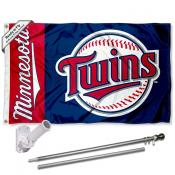 Minnesota Twins Flag Pole and Bracket Kit