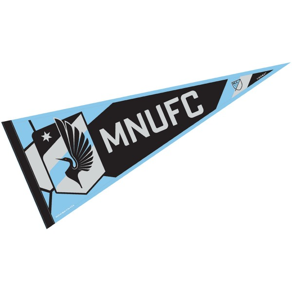 Minnesota United FC Pennant is our Full Size MLS soccer team pennant which measures 12x30 inches, is made of felt, and is single sided screen printed. Our Minnesota United FC Pennant is perfect for showing your MLS team allegiance in any room of the house and is MLS licensed.