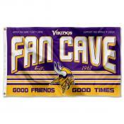 Minnesota Vikings Fan Cave Flag Large Banner