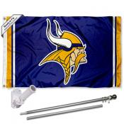 Minnesota Vikings Flag Pole and Bracket Kit