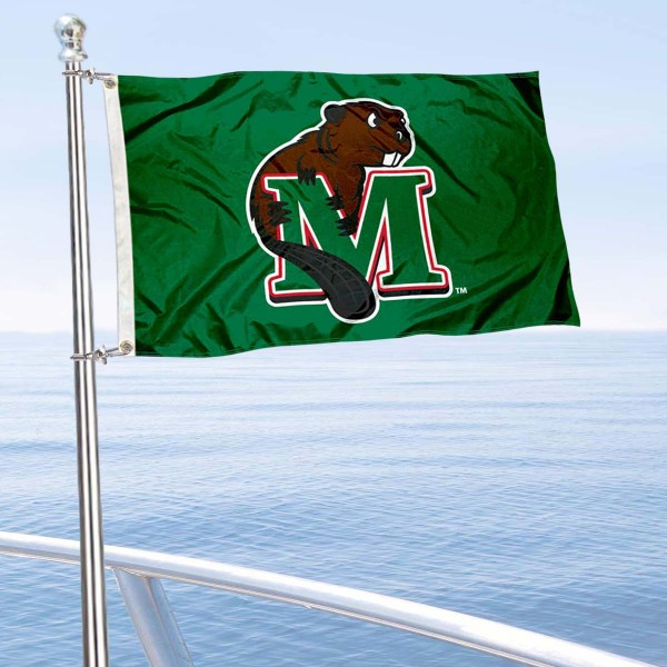Minot State Beavers Boat and Mini Flag is 12x18 inches, polyester, offers quadruple stitched flyends for durability, has two metal grommets, and is double sided. Our mini flags for Minot State University are licensed by the university and NCAA and can be used as a boat flag, motorcycle flag, golf cart flag, or ATV flag.