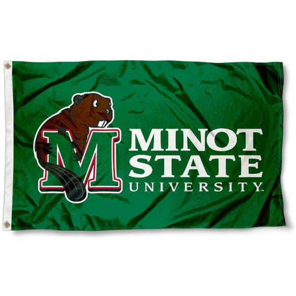 Minot State Beavers Flag measures 3'x5', is made of 100% poly, has quadruple stitched sewing, two metal grommets, and has double sided Team University logos. Our MSU Beavers 3x5 Flag is officially licensed by the selected university and the NCAA.