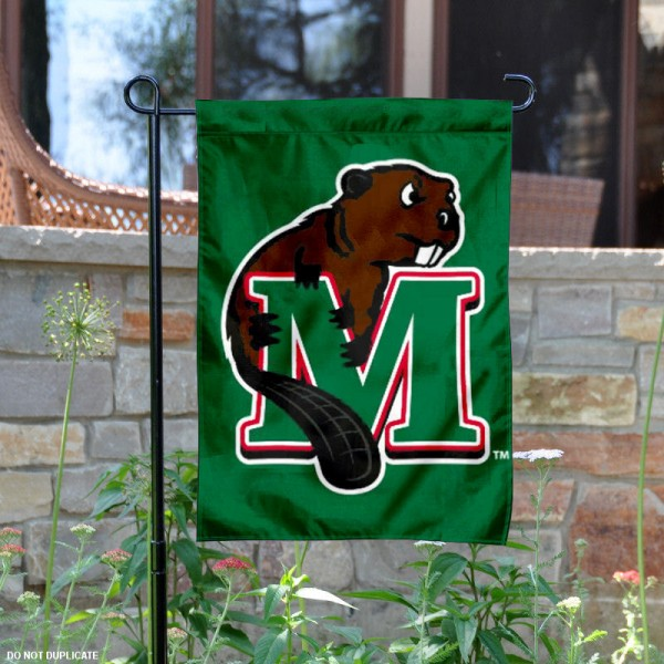 Minot State Beavers Logo Garden Flag is 13x18 inches in size, is made of 2-layer polyester with liner, screen printed athletic logos and lettering. Available with Same Day Overnight Express Shipping, Our Minot State Beavers Logo Garden Flag is officially licensed and approved by the university, college and the NCAA.