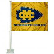 Mississippi College Choctaws Car Window Flag