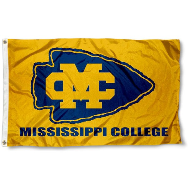 Mississippi College Choctaws Flag measures 3'x5', is made of 100% poly, has quadruple stitched sewing, two metal grommets, and has double sided Team University logos. Our Mississippi College Choctaws 3x5 Flag is officially licensed by the selected university and the NCAA.