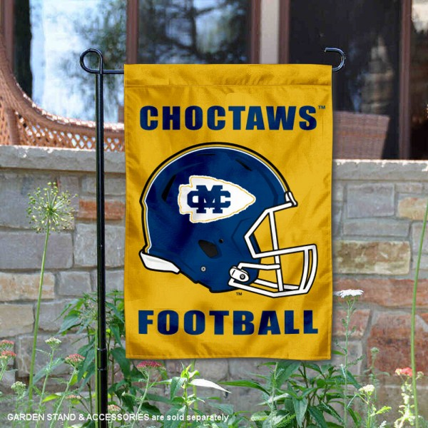 Mississippi College Choctaws Helmet Yard Garden Flag is 13x18 inches in size, is made of 2-layer polyester with Liner, screen printed university athletic logos and lettering, and is readable and viewable correctly on both sides. Available same day shipping, our Mississippi College Choctaws Helmet Yard Garden Flag is officially licensed and approved by the university and the NCAA.