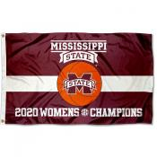 Mississippi State Bulldogs 2020 Womens Basketball Conference Champions Flag