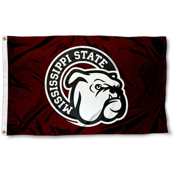 Mississippi State Bulldogs 3x5 Flag is made of 100% polyester, offers four-stitched flyends, measures 3x5 feet, has two metal grommets, and is viewable from both side with the opposite side being a reverse image. Our Mississippi State Bulldogs 3x5 Flag is officially licensed by the selected college and NCAA