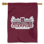 Mississippi State Bulldogs Baseball National Champions Double Sided House Flag