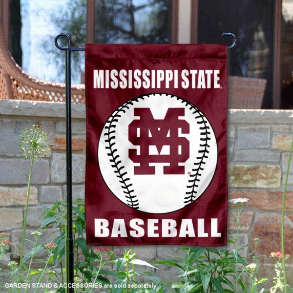 Mississippi State Bulldogs Baseball Team Garden Flag is 13x18 inches in size, is made of 2-layer polyester, screen printed Mississippi State University Baseball athletic logos and lettering. Available with Express Shipping, Our Mississippi State Bulldogs Baseball Team Garden Flag is officially licensed and approved by Mississippi State University Baseball and the NCAA.