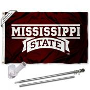 Mississippi State Bulldogs Flag Pole and Bracket Kit