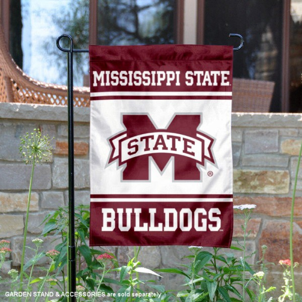 Mississippi State Bulldogs Garden Flag is 13x18 inches in size, is made of 2-layer polyester, screen printed logos and lettering. Available with Same Day Express Shipping, Our Mississippi State Bulldogs Garden Flag is officially licensed and approved by the NCAA.