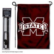 Mississippi State Bulldogs Garden Flag and Pole Stand Mount