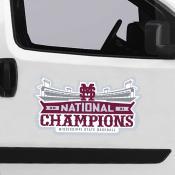Mississippi State Bulldogs National Baseball Champion Large Magnet