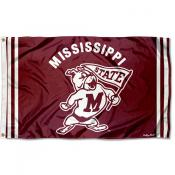 Mississippi State Bulldogs Throwback Vault Logo Flag