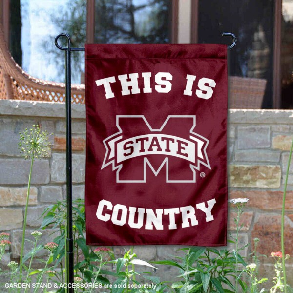 Mississippi State University Country Garden Flag is 13x18 inches in size, is made of 2-layer polyester, screen printed university athletic logos and lettering, and is readable and viewable correctly on both sides. Available same day shipping, our Mississippi State University Country Garden Flag is officially licensed and approved by the university and the NCAA.