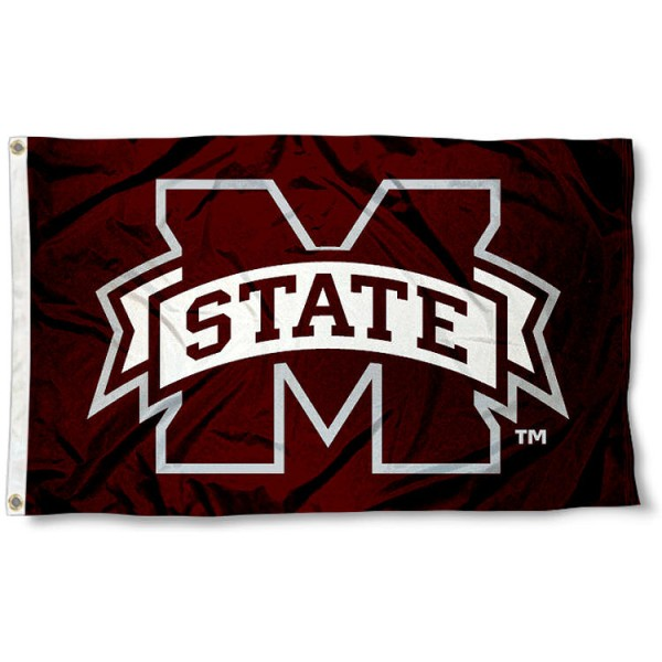 Mississippi State University Flag measures 3'x5', is made of 100% poly, has quadruple stitched sewing, two metal grommets, and has double sided Mississippi State University logos. Our Mississippi State University Flag is officially licensed by the selected university and the NCAA