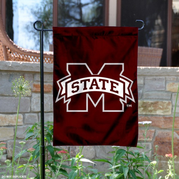 Mississippi State University Garden Flag is made of 100% polyester, measures 13x18 inches, and has screen printed NCAA School insignias and lettering. The Mississippi State University Garden Flag is approved by Mississippi State University and NCAA and university garden flags are great for your entranceway, garden, yard, mailbox, or window.