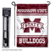 Mississippi State University Garden Flag and Stand